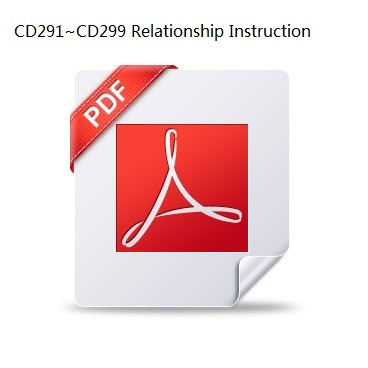 CD291~CD299 Capacitor Relationship Instruction